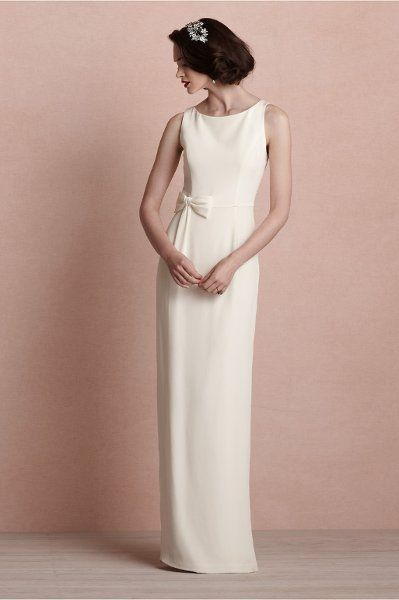 Classic Formal Hollywood Glam Modern Modest Ivory $$ - $701 to $1500 A-line BHLDN Bateau Fall Floor Natural Silk Sleeveless Winter Wedding Dresses Photos & Pictures - WeddingWire.com
