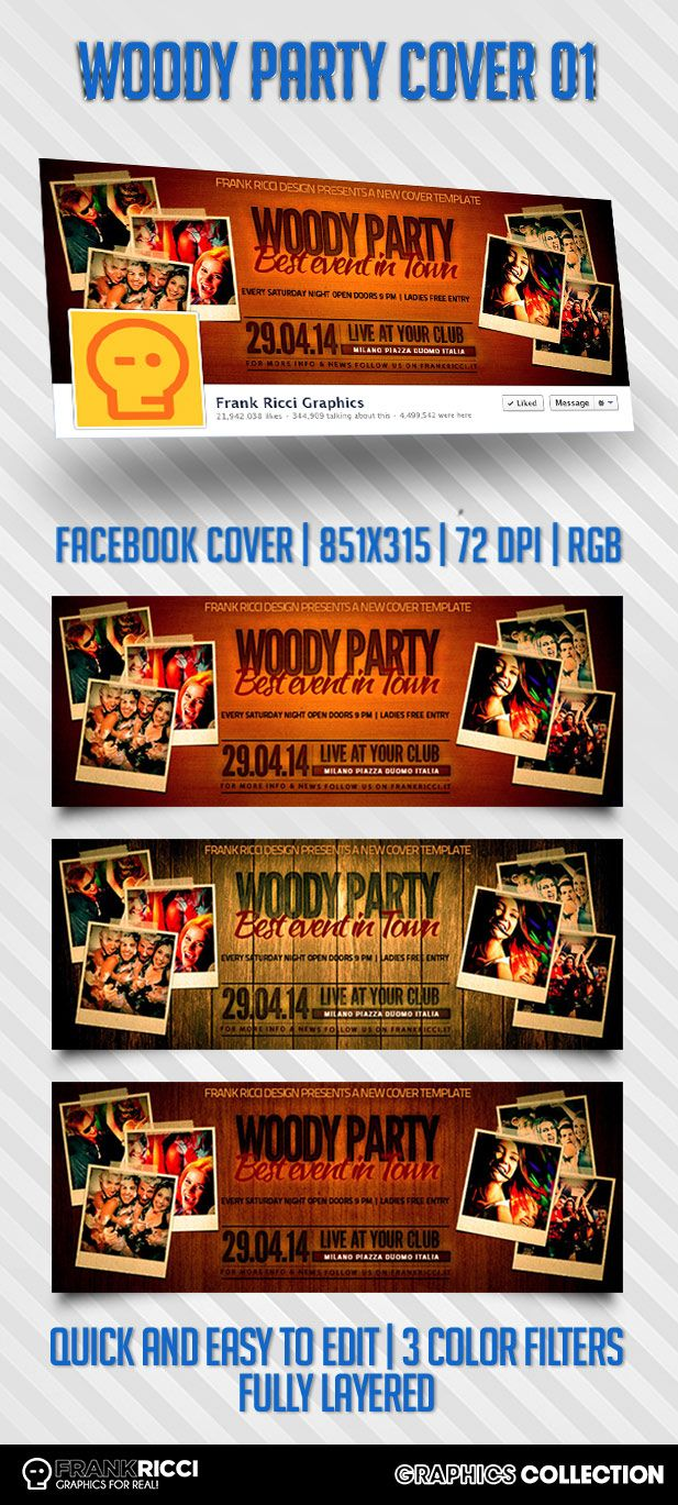 Cover Facebook Woody 01 - New template available on http://frankricci.it/woody-cover-facebook-01/