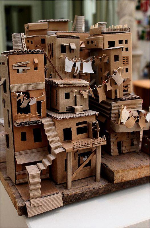 Favela 3 | da trisbj - Cardboard favela by Pamela Sullivan