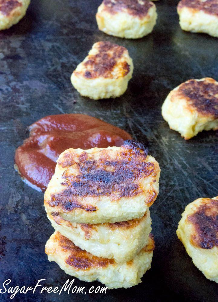Crispy Cheesy Low Carb Cauliflower Tots, grain free, gluten free- http://sugarfreemom.com