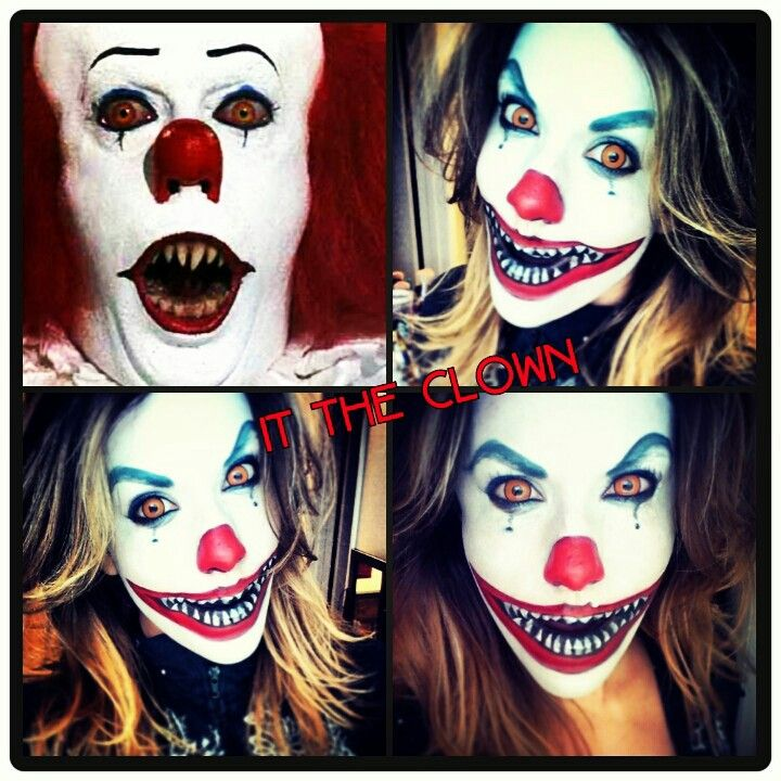 'It' the clown halloween makeup. clown scary