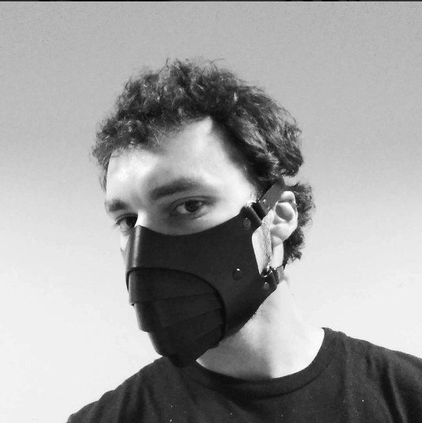 masque respiratoire gothique homme