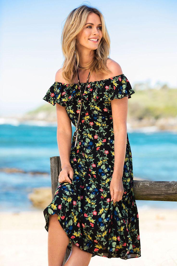 Emerge Off Shoulder Dress Online | Shop EziBuy