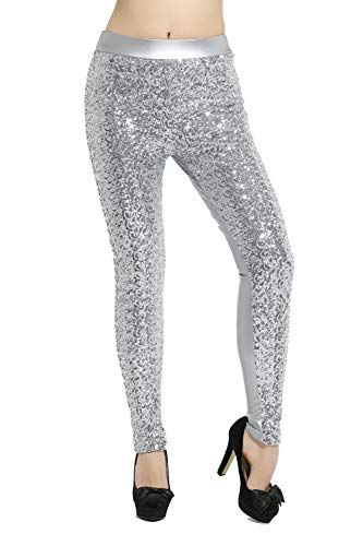 17a497f4c469b Women's Shiny Sequins Faux #Leather #Leggings Pants | Skinny Jeans ...