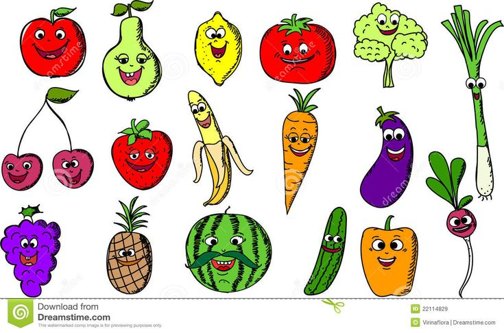 cartoon fruit and vegetable images | Cartoon Funny Fruits And Vegetables,vector Royalty Free Stock Images ...