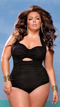 Monif C Monaco Plus Size Swimsuit---finally!!! plus size!!!! Beautiful - Shop The Top Online Shopping Sites - http://AmericasMall.com/categories/swimwear.html