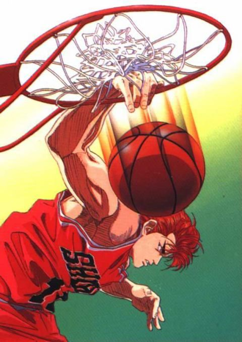 "the great Slam Dunk of Hanamichi Sakuragi ""the Genius"" #anime #slamdunk"