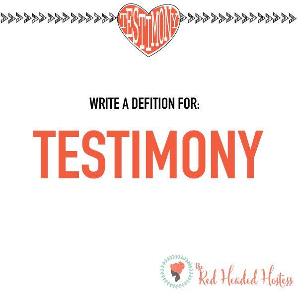 Write Down Your Salvation Testimony
