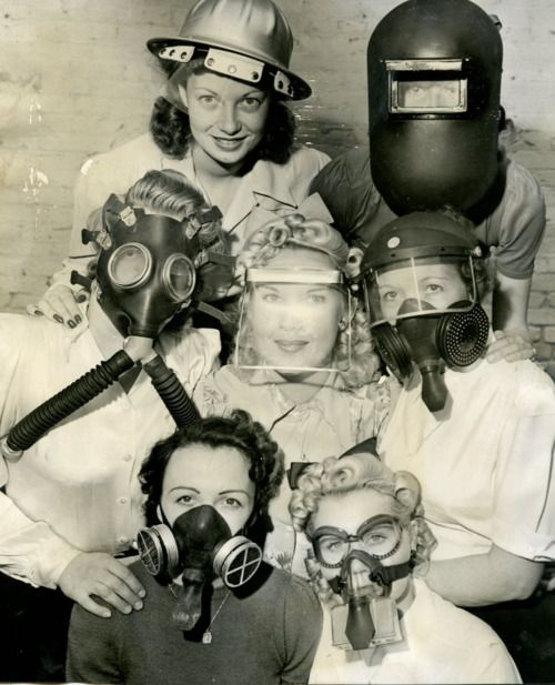 Gas masks during WWII