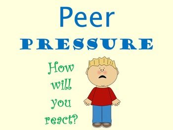 a discussion on peer pressure Culture and youth studies think discuss the following three methods are effective for developing discussion of peer pressure: a large group discussion with one.