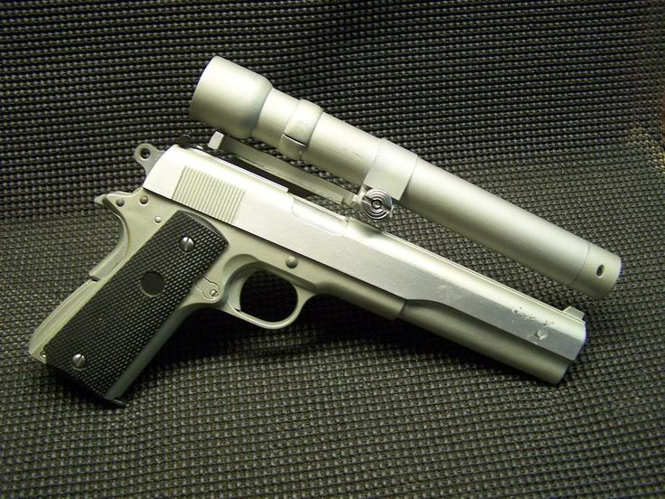 45 longslide with laser sighting (hint: say it with a thick Austrian accent)
