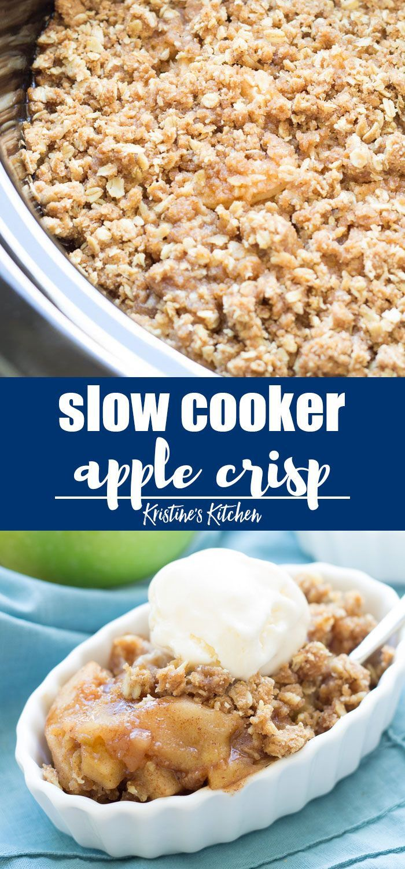 Easy Slow Cooker Apple Crisp Recipe! This make ahe…