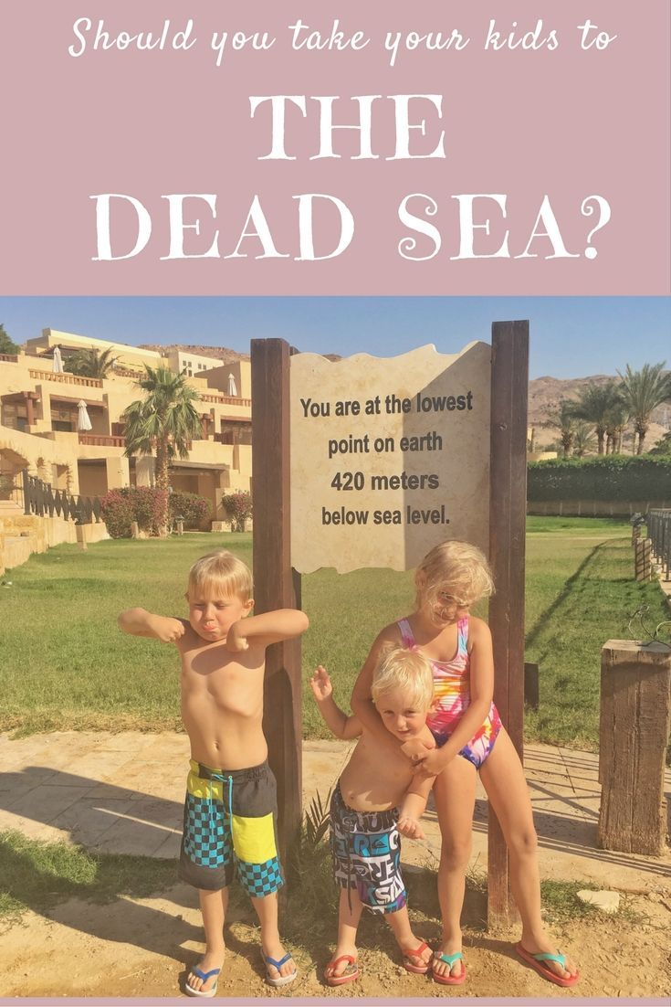 Is it safe to take your children to the Dead Sea? | Our Globetrotters - Jordan Road Trip