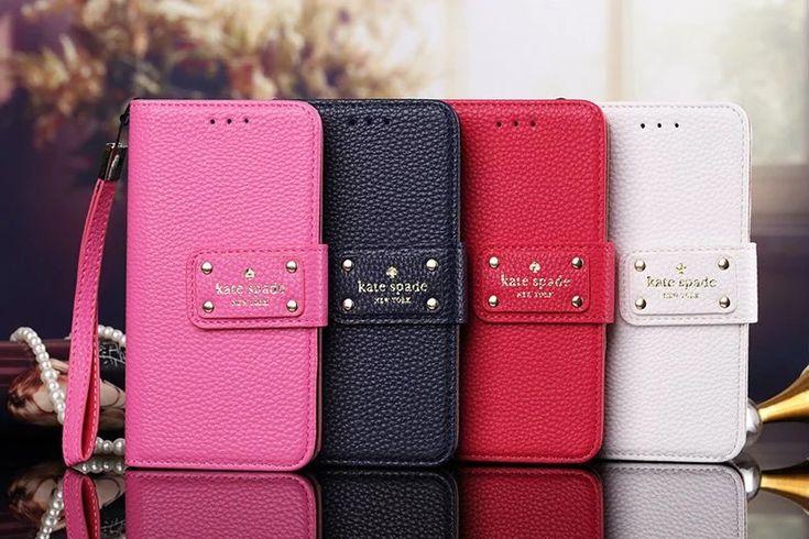 iphone6/8/7s 折りたたみ ケースKate spade手帳型革製7Plusピンクバラ色黒ネイビーカード収納アイフォン7プラス5SE Galaxy S7 Edge/s8/7/s6edge携帯カ