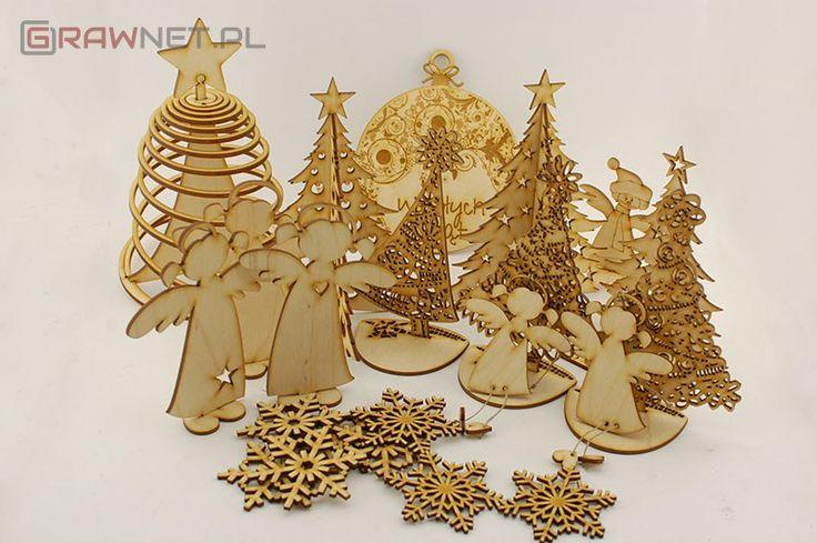 Świąteczne ozdoby wycinane laserowo - http://grawnet.pl/swiateczne-ozdoby-wycinane-laserowo/  #BożeNarodzenie, #Święta, #Zima
