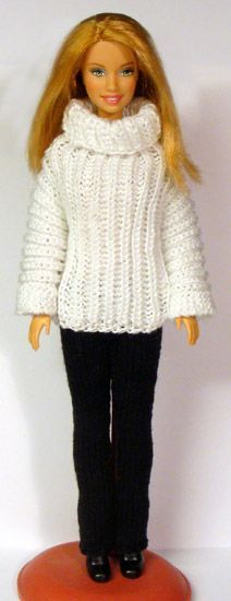 Archive of knit & crochet patterns - Barbie, Monchichichi etc ... http://www.stickatillbarbie.se/
