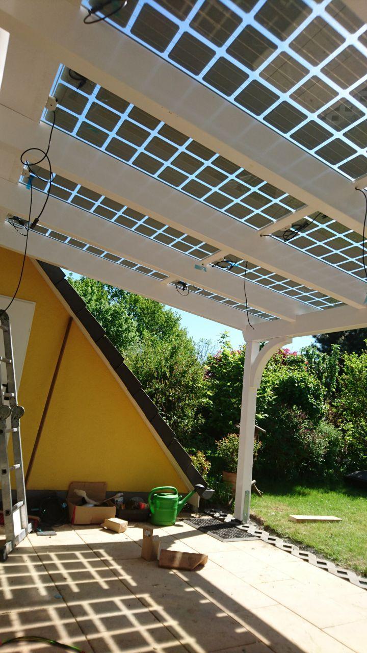 Terrassenuberdachung Aus Holz Mit Solar Glas Dach Vom Holzhof