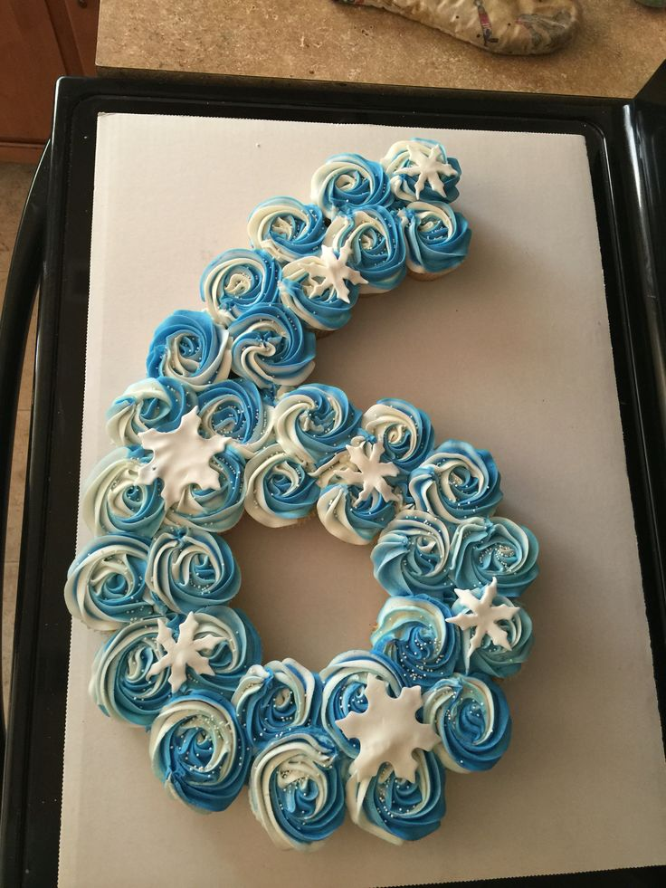 Snow frozen pull apart cupcake cake 6 six