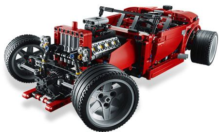 Lego Technic Supercar 8070 Alternate Hot Rod Model