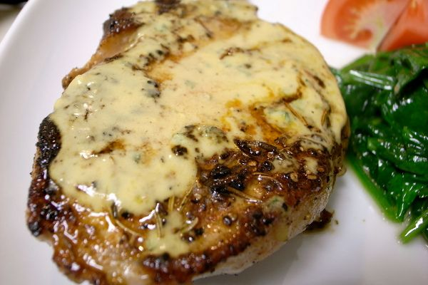 Pork Chops in Coconut Mushroom Sauce. Serves 2 with enough for lunch the next day. Total time: 40 mins