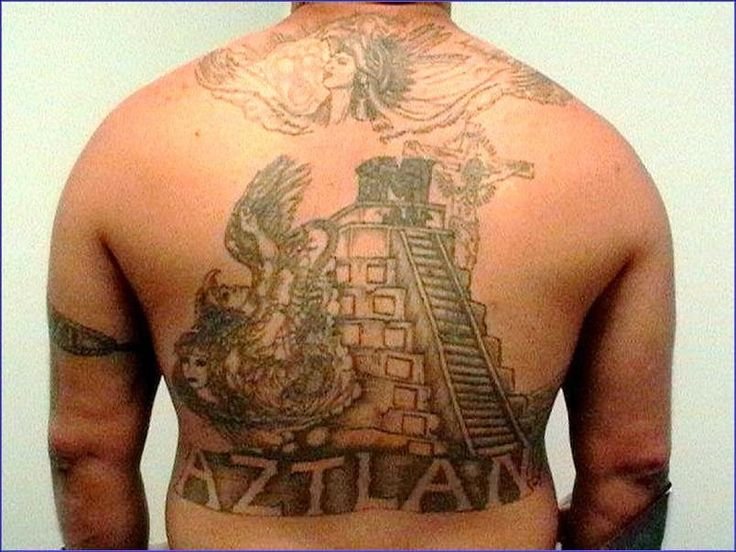 Mexikanemi tattoo on the back | GANG RELATED | Pinterest