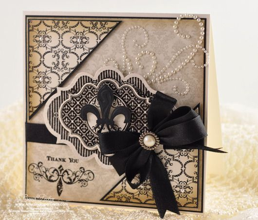 Fleur de Lis card designed by Becca Feeken