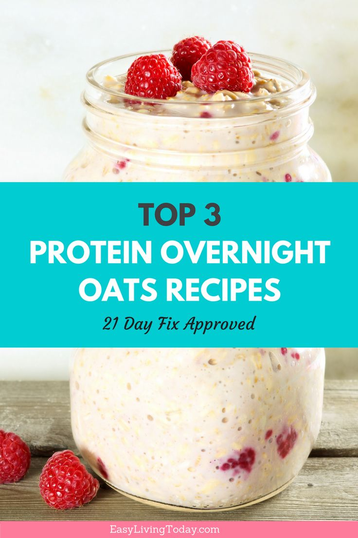 These healthy overnight oats breakfast recipes are delicious and packed with protein. They are perfect for clean eating and the 21 Day Fix since they're super easy and low calorie. via @easylivingtoday
