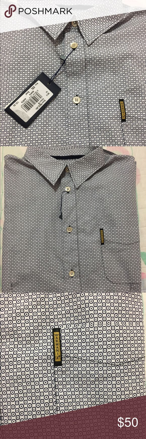 Armani Jeans shirt Armani Jeans XXL shirt. Armani label on the front pocket. Chest measurement is 25 inches. Armani Jeans Shirts Casual Button Down Shirts