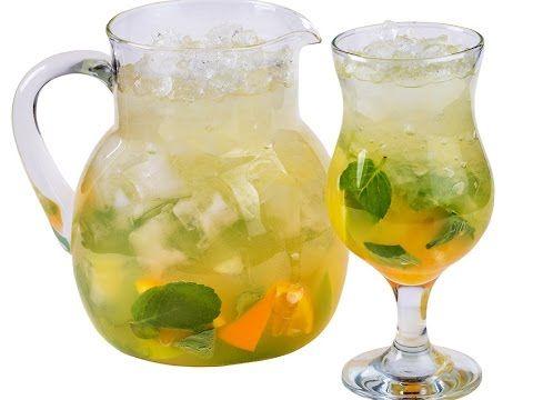 Мятный лимонад с фруктами
