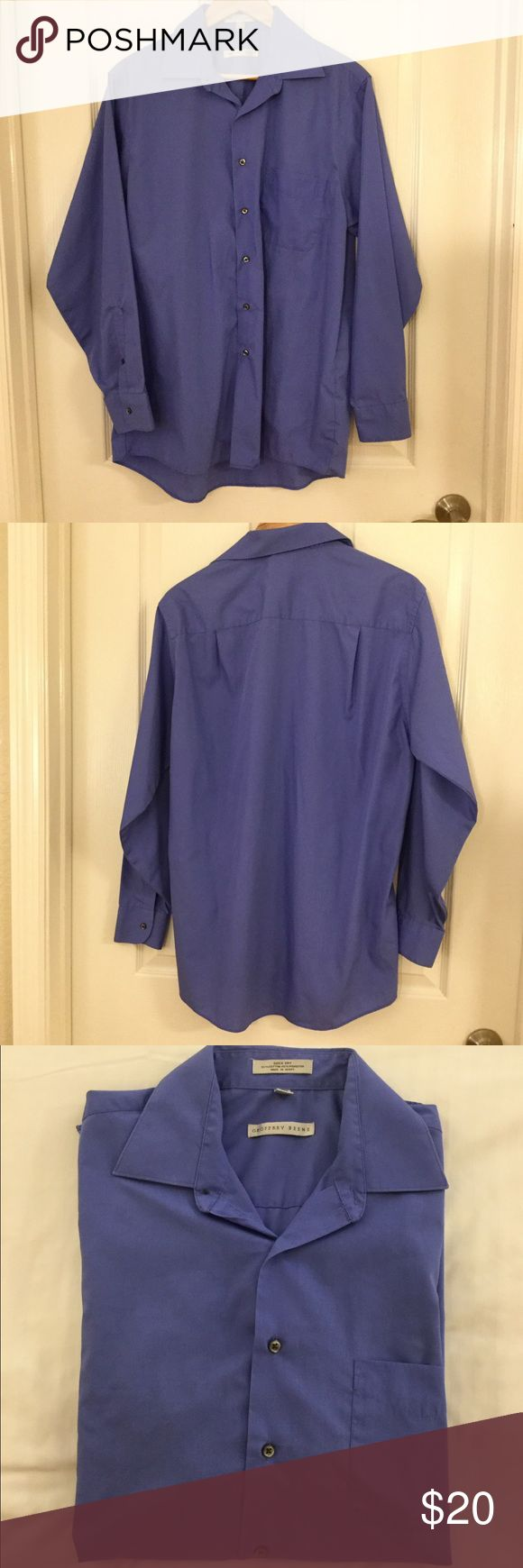 🌴NEW LISTING🌴 Geoffrey Beene Wrinkle Free Shirt Blue.  Quick dry. Wrinkle free. 55% cotton 45% polyester. Size 16 (34/35) Large.  (11/16) Geoffrey Beene Shirts Casual Button Down Shirts