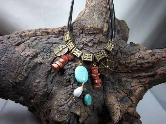 Check out this item in my Etsy shop https://www.etsy.com/listing/178050418/southwestern-style-necklace-turquoise