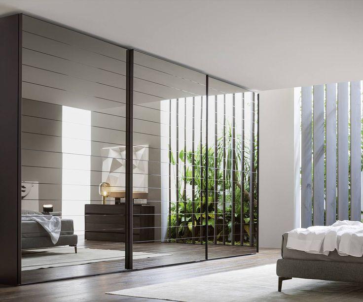 Crystal Dogato Design Spiegel Schwebetüren Kleiderschrank aus Italien von Novamobili