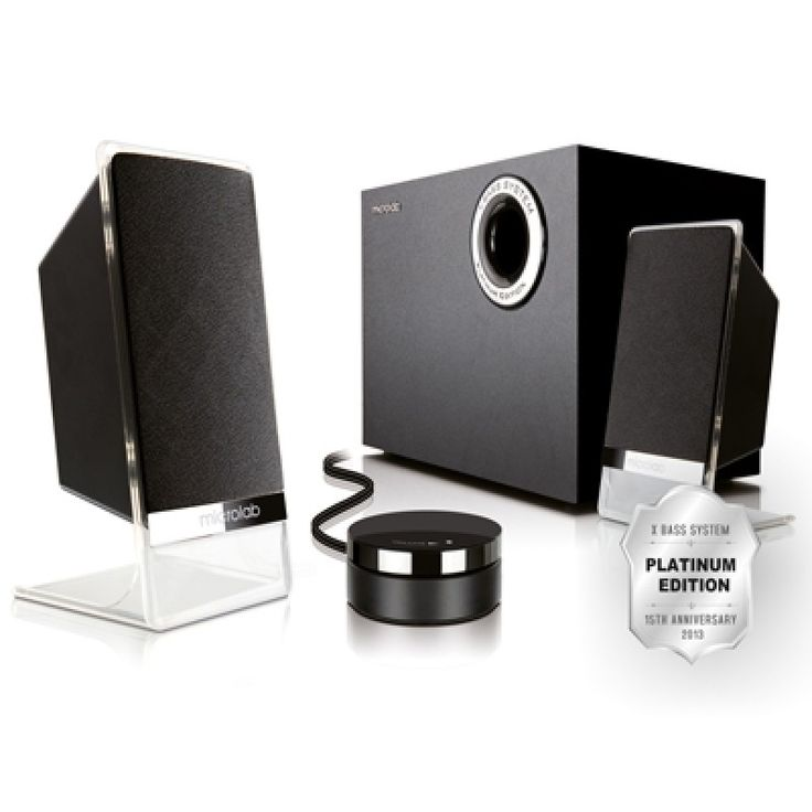 Microlab M200 Platinum, 2.1-Channel Subwoofer Speaker with wired control