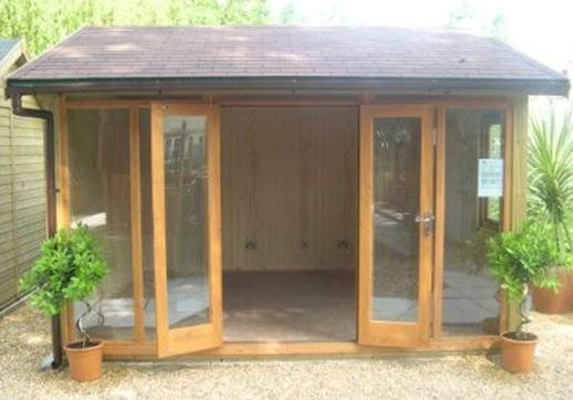 Contemporary Modular Garden Office or Studio 12' x 8' (3.8m x 2.4m)