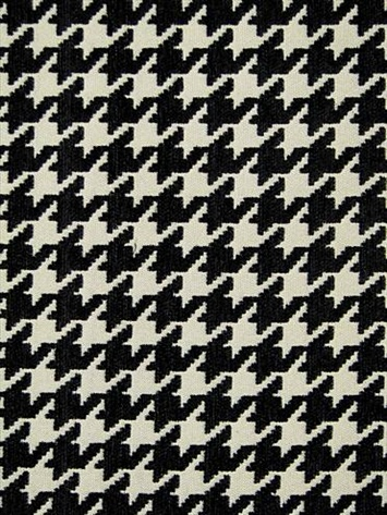 B&W houndstooth fabric for wingbacks