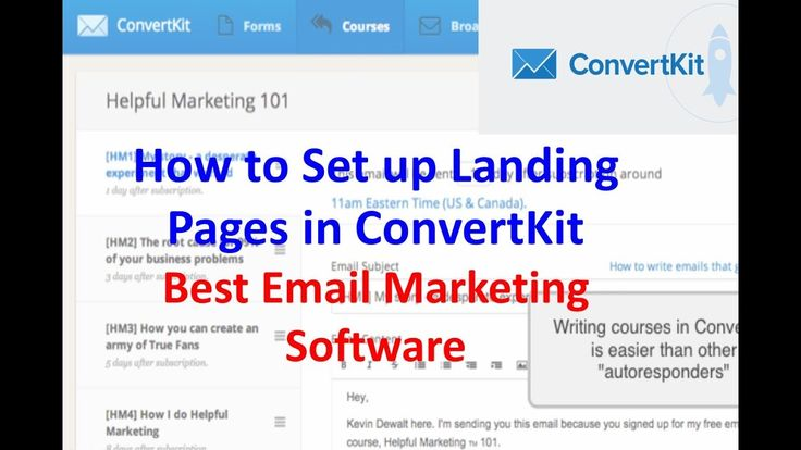 How to Set up Landing Pages in ConvertKit | Best Email Marketing Software: http://YourSuccessLife.com/Convertkit/