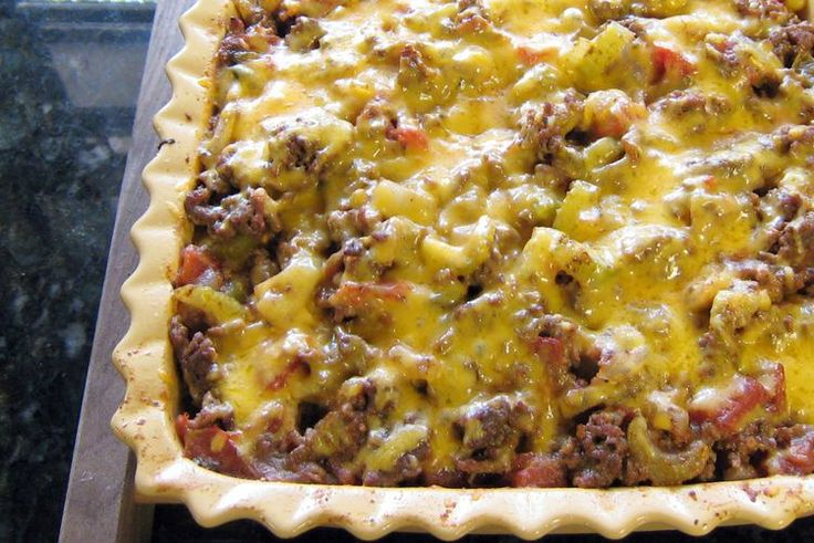 All-In-One Ground Beef and Potato Casserole