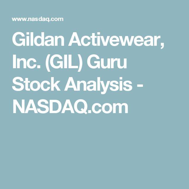 Gildan Activewear, Inc. (GIL) Guru Stock Analysis - NASDAQ.com