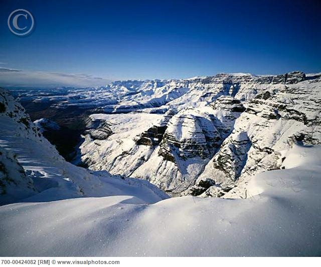 snow covered Drakensberg Mountains... - KwaZulu Natal South Africa