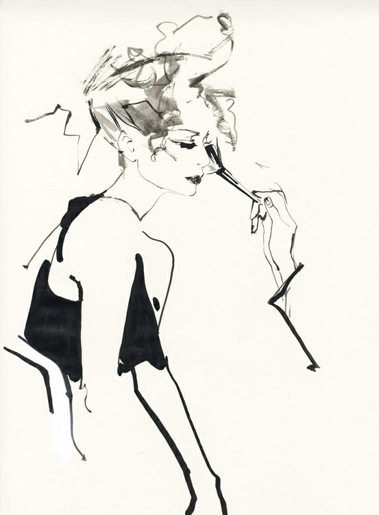 David Downton illustration.                                                                                                                                                                                 Más