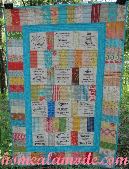 Home A La Mode Say It With Words Prayer Shawl Panel