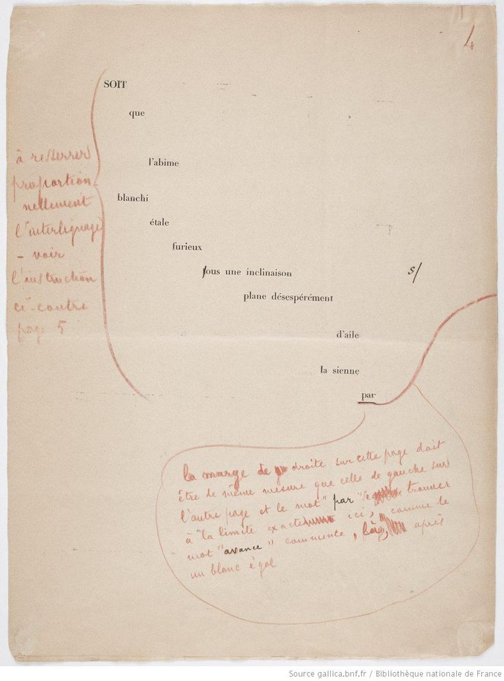 Jamais un coup de dés n'abolira le hasard : poème : [épreuves d'imprimerie] / par Stéphane Mallarmé ; [trois lithographies d'Odilon Redon]