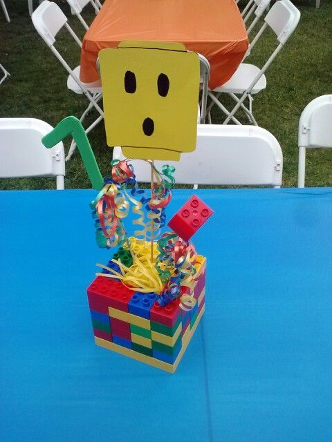 Lego centerpiece party ideas pinterest and