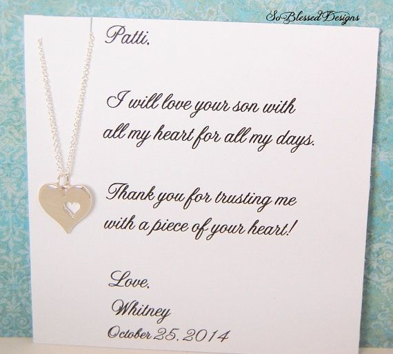 Mother Daughter Wedding Gift Ideas : the GROOM, Mother in law wedding gift, wedding necklace, from daughter ...