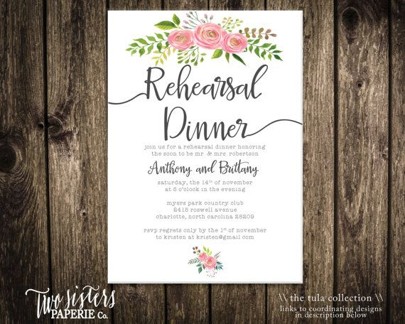 Более 25 лучших идей на тему «Rehearsal dinner e invitations» на - dinner party invitation sample