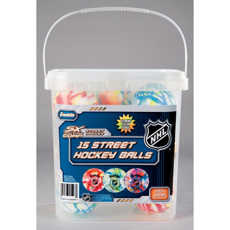 Franklin NHL Extreme Color High Density Street Hockey Ball - Pack of 15 - 12208B15P1