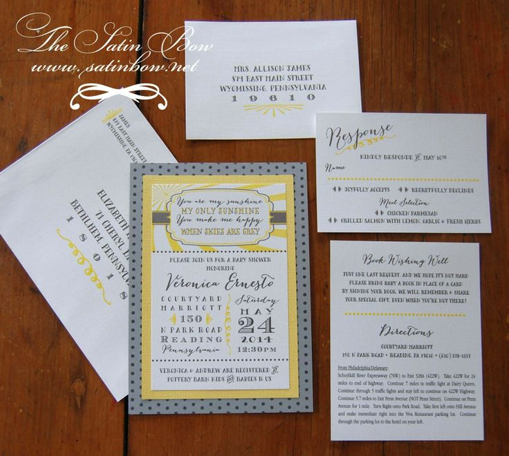 email wedding invitation to work colleagues%0A Sweet Baby Shower Invitation  You are my Sunshine  Yellow  Silver  Gray