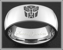 Autobot Tungsten Wedding Ring With Free Inside Engraving