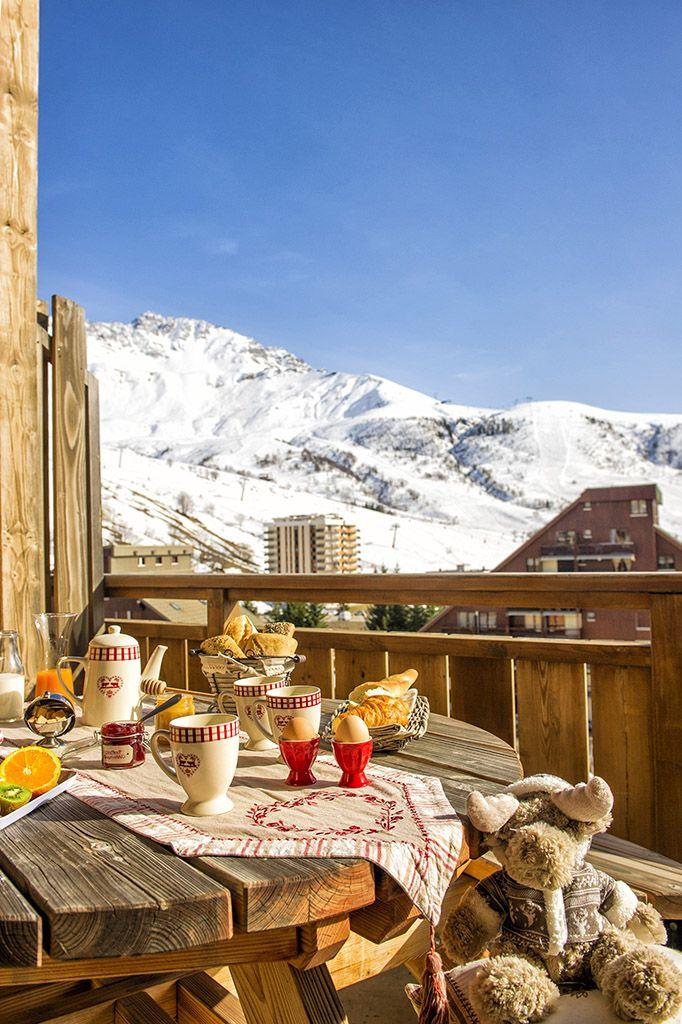 Exemple de balcon - Résidence Goélia Les 4 vallées à Saint François Longchamps.