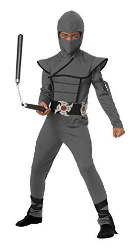 California Costumes Stealth Ninja/Child Costume, Gray, Medium
